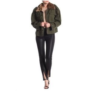 Blank NYC High Rise Faux Leather Topstitched Pants